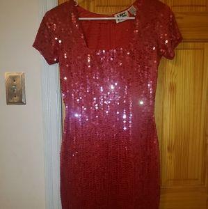 VTG Nite line sequin dress